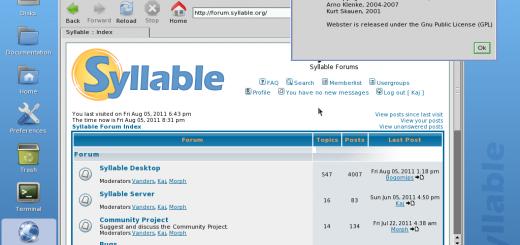 Syllable - скриншот операционной системы