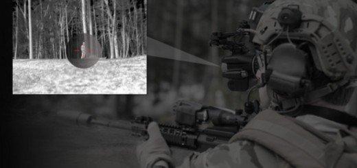 Солдат с уникальным прицелом с функцией тепловизора и очков ночного видения