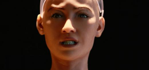 Робот София с красивым женским лицом